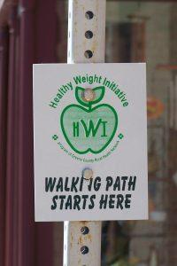 Walking Marker Signs
