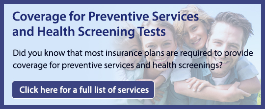 Coverage for Preventative Services